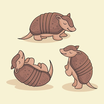 Cute armadillo cartoon animal группа