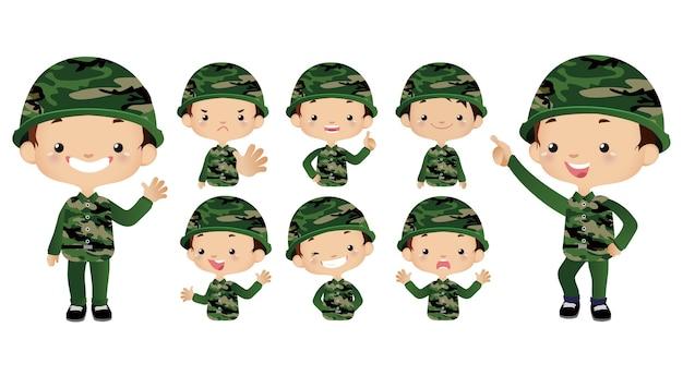 귀여운 군대 세트