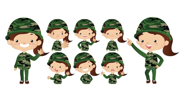 かわいい軍隊セット