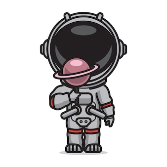 Cute astronaut candy