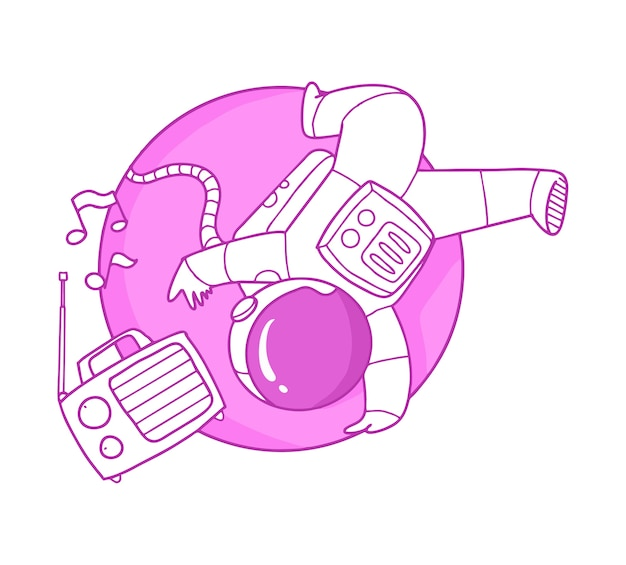 Cute astronaut cartoon