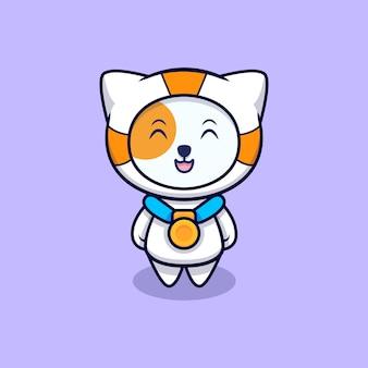 かわいい宇宙飛行士の猫が金メダルを獲得しました