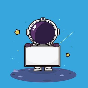 かわいい宇宙飛行士のキャラクター Premiumベクター