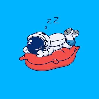 Милый дизайн космонавта спит на кровати