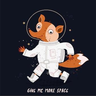 Cute astronaut fox