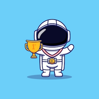 Cute astronaut got the first prize