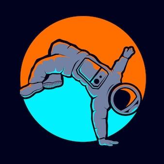 かわいい宇宙飛行士のヒップホップスタイル