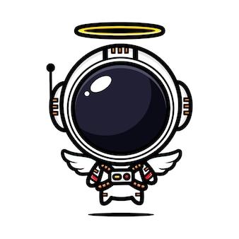 귀여운 우주 비행사는 천사입니다