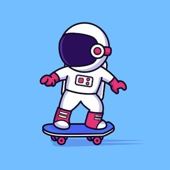 Милый космонавт на коньках