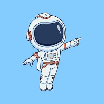 Cute astronaut wearing space suit