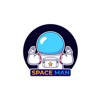 無線通信でかわいい宇宙飛行士