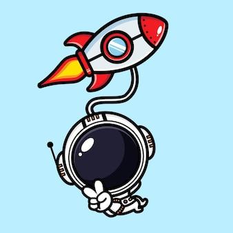 Cute astronaut