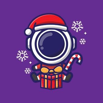 귀여운 우주 비행사 크리스마스 그들