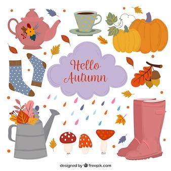Abbigliamento autunno carino con foglie