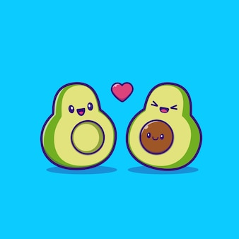 Cute avocado family