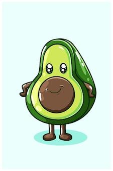 A cute avocado illustration