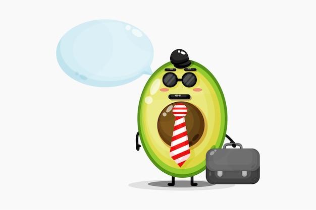 Симпатичный талисман авокадо идет в офис