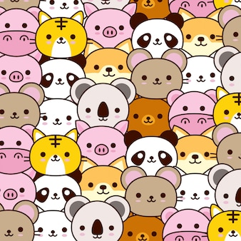 Cute baby animal pattern