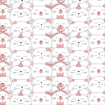 Cute baby animal seamless pattern