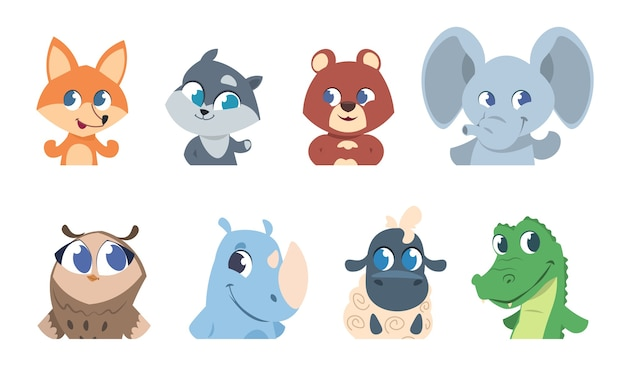 Cute baby animals illustration