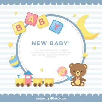 Cute baby background in flat style