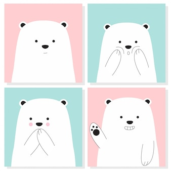 Cute baby bear collection