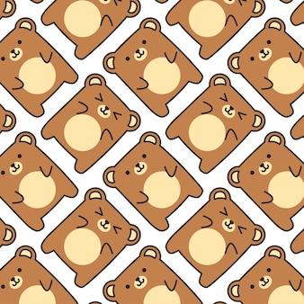 Cute baby bear pattern