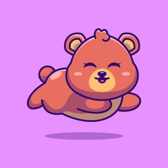 귀여운 아기 곰 실행 만화