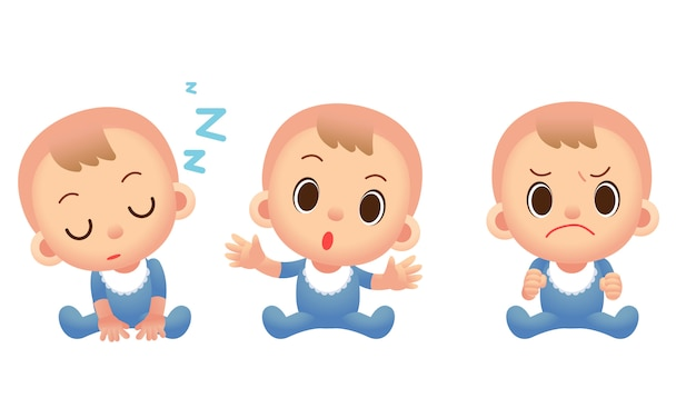 Cute baby boy characters