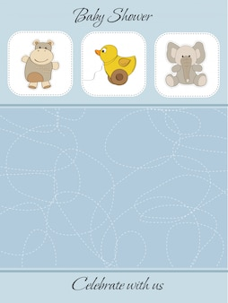 Cute baby boy shower card