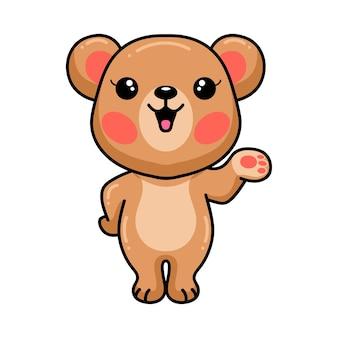 Представляя мультфильм милый ребенок бурый медведь