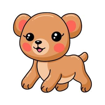 귀여운 아기 갈색 곰 만화