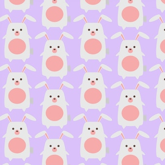 Cute baby bunny rabbit pattern