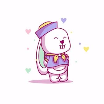 Cute baby bunny with sailor custom