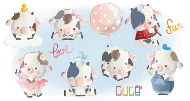 かわいい子牛のコレクション