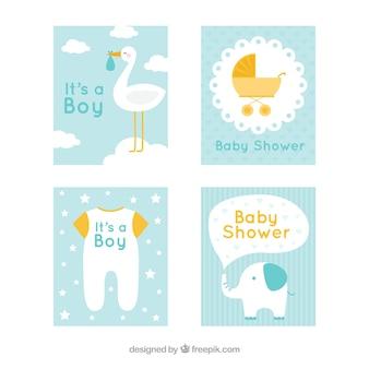 Collezione di cartoline per bambini carine