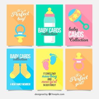 Коллекция милых детских карточек