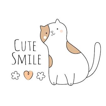 Cute baby cat cartoon character