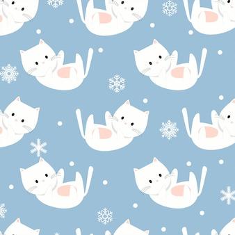 Cute baby cat winter christmas