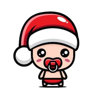 크리스마스를 축하하는 귀여운 아기