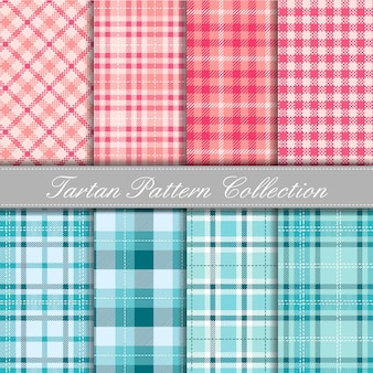 Cute baby colors tartan collection