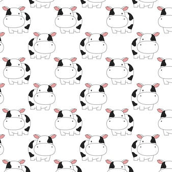 Cute baby cow pattern