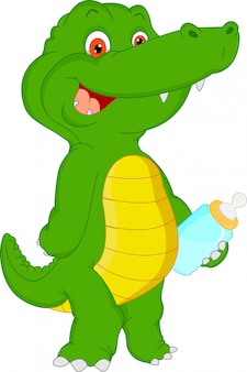 Cute baby crocodile cartoon