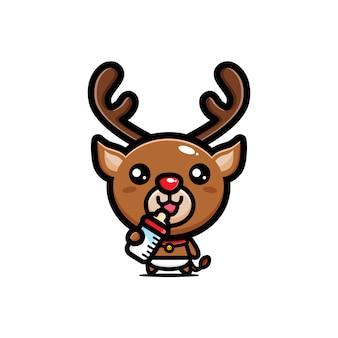 かわいい赤ちゃん鹿のキャラクター