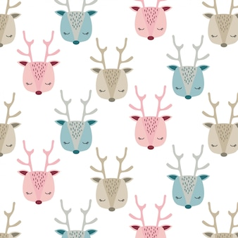Cute baby deer face pattern