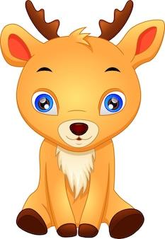 귀여운 아기 사슴 자세