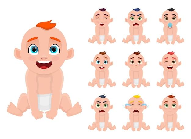 分離かわいい赤ちゃんのデザインイラスト
