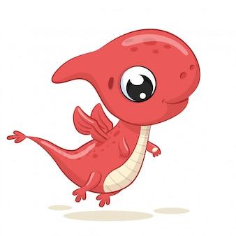 かわいい赤ちゃん恐竜のイラスト。