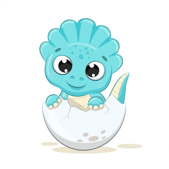 Cute baby dinosaur illustration.
