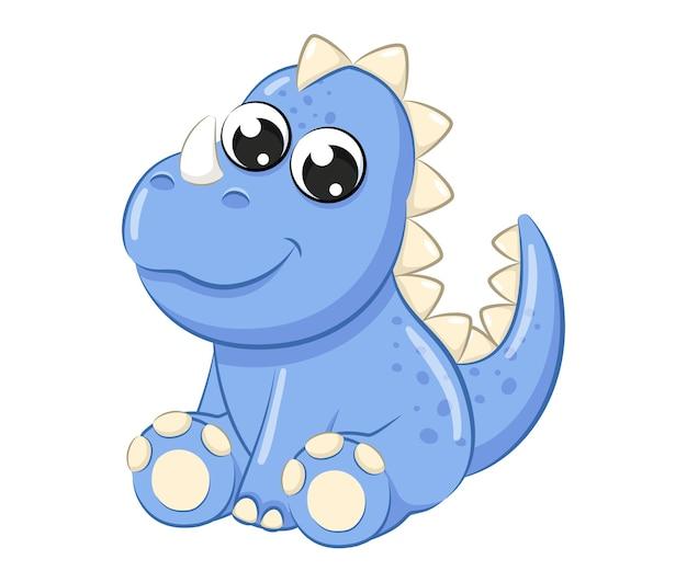 Cute baby dinosaur illustration.